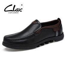 Мужские черные классические туфли clax осенняя кожаная обувь