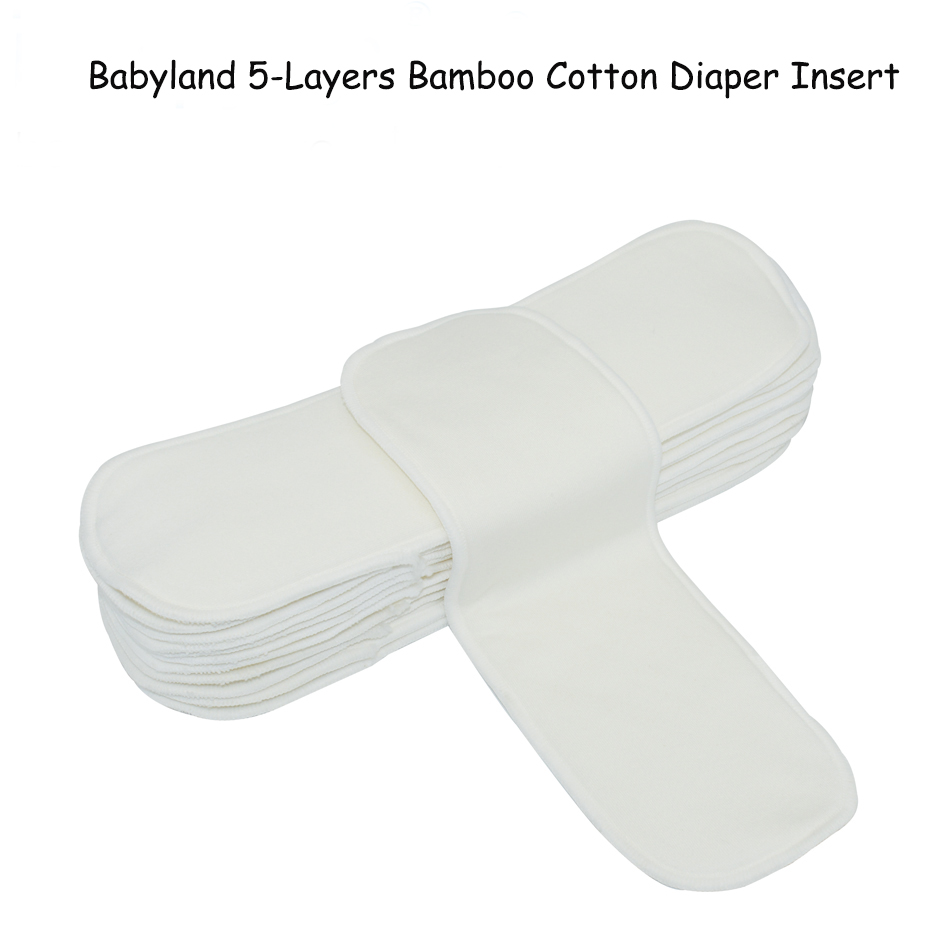 FIVE LAYERS 33Pieces A Lot Comfortable Cotton Bamboo Liners Diaper Inserts For Normal Pocket Night and