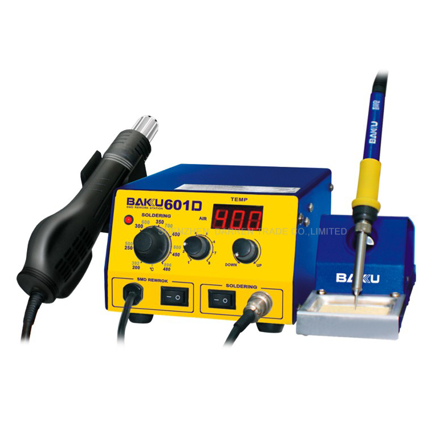 1PC 220V BAKU BK-601D LED Digital Display Hot Air SMD Rework Station, hot air solder station BGA rework