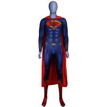 Mannen Jongens Superman Man Van Staal Cosplay Kostuums Panty Jumpsuits Superhero Evenement Halloween Superman Kostuums Zentai Pak Mantel