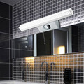 Excelvan 10W 100 LEDs 6000K White Mirror Front Light,SMD2835 LED Mirror Front Light Bathroom Wall Lamp Stainless Steel 110V-220V