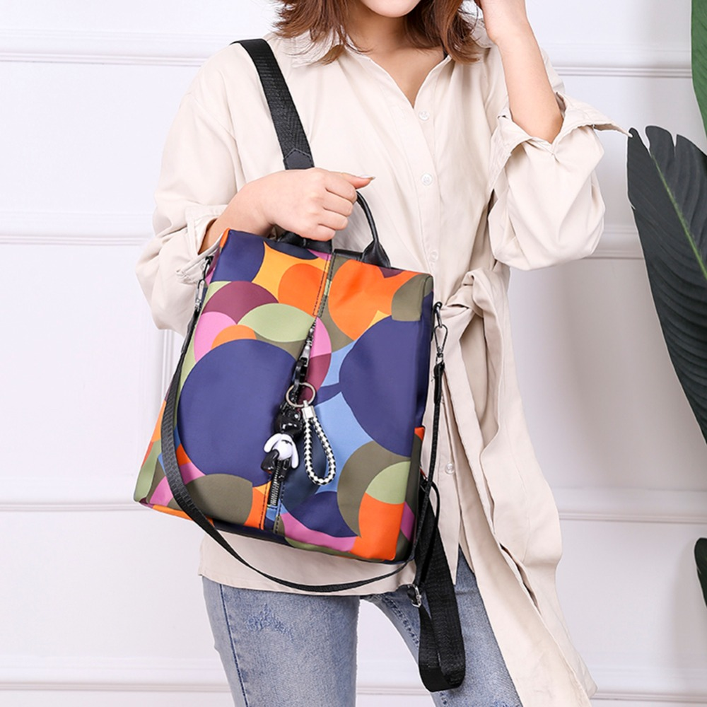 HTB1GMzlNr2pK1RjSZFsq6yNlXXa2 Casual Oxford Cloth Women Backpack Anti Theft Girls Schoolbags Teenager Travel Daypack Shoulder Bag Colorful Fashion Back Pack