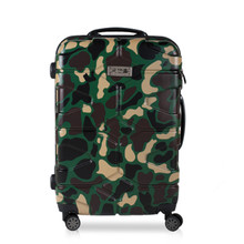 Pull Rod trunk suitcase Business Camouflage travel Boarding ABS PC Short trips bag Baggage spinner wheels