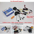 Para Renault Espace 4-Sensores de Estacionamento + Retrovisor Do Carro câmera = 2 em 1 Visual/BIBI Alarme Sistema de Estacionamento