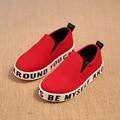 Дети Кроссовки Мальчики Девочки Обувь Новая Осень Повседневная Квартиры Письма Детей Обувь Мальчиков Обувь Детей Случайные Холст Обувь Размер 26-36