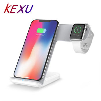 Kexu 2 in 1 빠른 충전 qi 무선 충전기 apple watch 1 2 3 4 for iphone xs max xr x 8 plus for samsung s9 s8 참고 9 8
