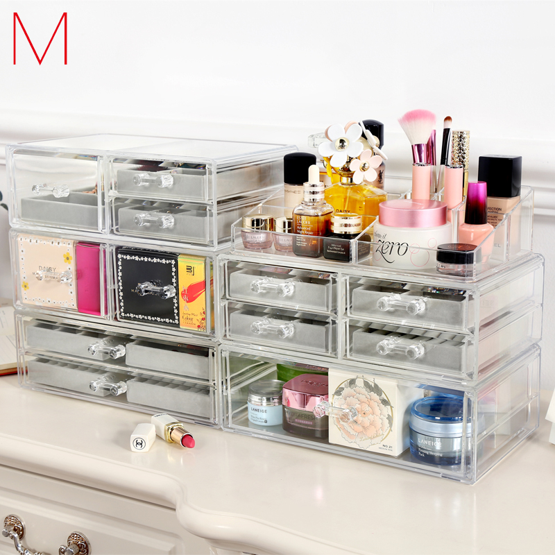 M Jewelry Storage Box Makeup Container Beads Organizer Ornaments Storage Jewelry Holder Cosmetics Container Acrylic C227
