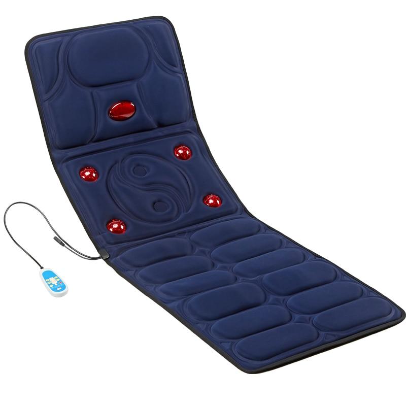 Image 2 - Vibration heating Massage Cushion cervical neck massage Acupressure cushion Far Infrared mattress massage mat 110 240V-in Massage & Relaxation from Beauty & Health