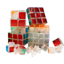 Professional Transparent Magic Speed Cube Puzzle Cube Twist Brain Learning Educational Children Toys 2x2x2 3x3x3 4x4x4