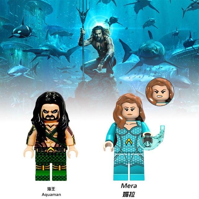 Aquaman Mera Fundos Marinhos Blocos de Construção Super-heróis Viúva Negra Compatível Duplo Mini Pessoas Yoda de Star Wars Brinquedos para Presente Das Crianças