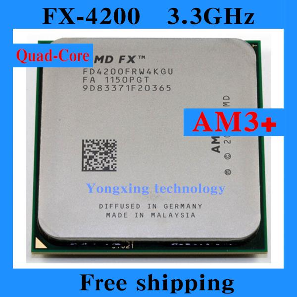 FX 4200 3.3GHz 8M Quad Core desktop processors CPU Socket AM3+ Computer Four nuclear Original authentic bulldozer