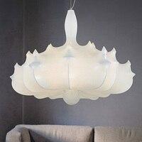 Nordic Italy Designer Silk Airship Pendant Light Creative White Engineering Hanging Lights Led Living Studio Light Free Shipping