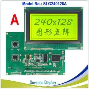 """Image 2 - 4.7"""" 240128 240*128 Graphic Matrix LCD Module Display Screen build in RA6963/UCi6963 Controller Yellow Blue with Backlight"""