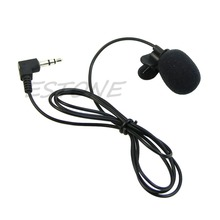 1Pc Mini Hands Free Clip On Lapel Microphone Mic For PC Notebook Laptop Skype 3.5mm high quality special black hands free clip on 3 5mm mini studio speech microphone