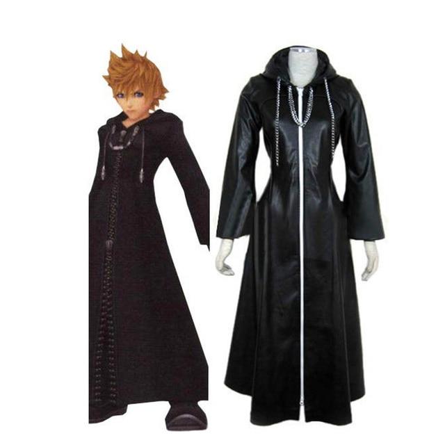 Kingdom Hearts 2 Organizasyon XIII Siyah Ceket Robe Cosplay Kostüm Custom Made