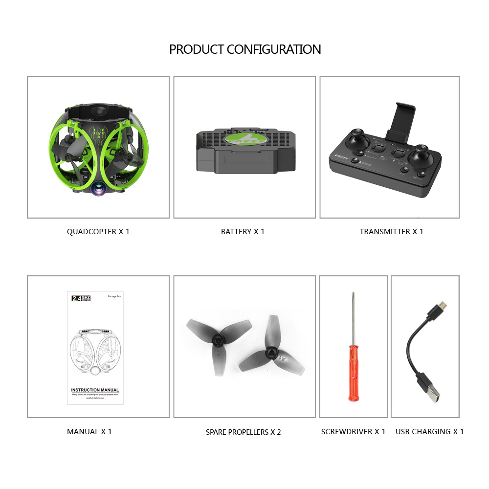 Image 4 - Drone WIFI folding spherical UAV Aerial photography Mini Four axis aircraft model toys UFO toys-in RC Helicopters from Toys & Hobbies