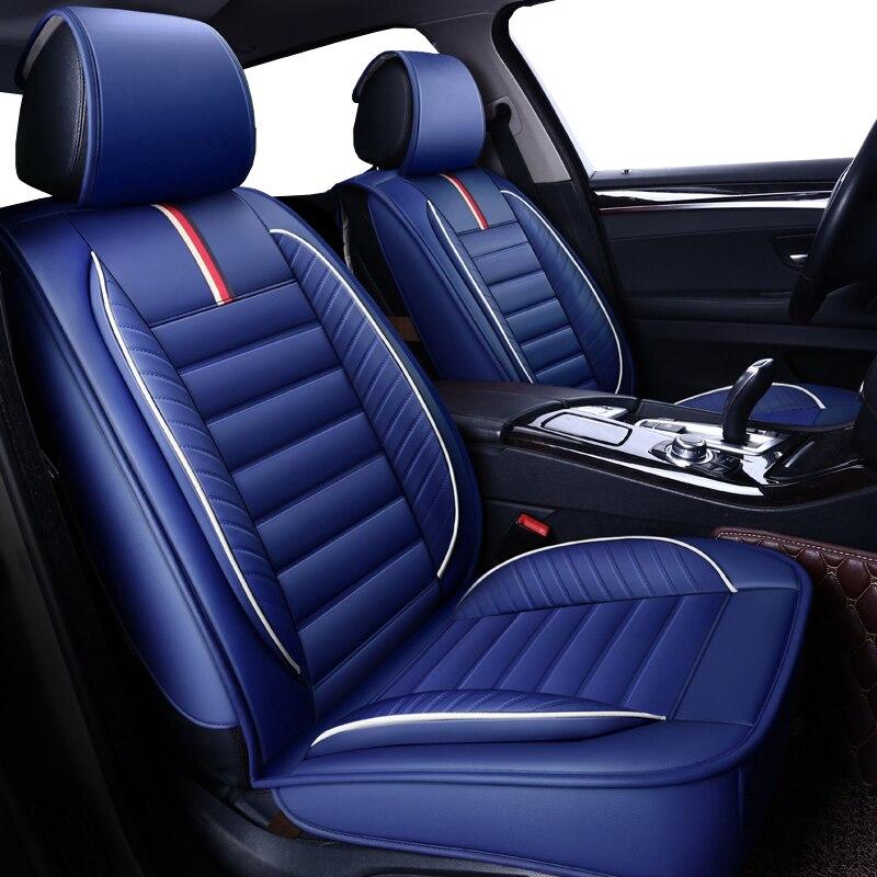 Alta qualidade PU de Couro do assento de carro capas para ford focus chevrolet cruze bmw e60 2 vw golf mk2 passat cc kia sportage chrysler