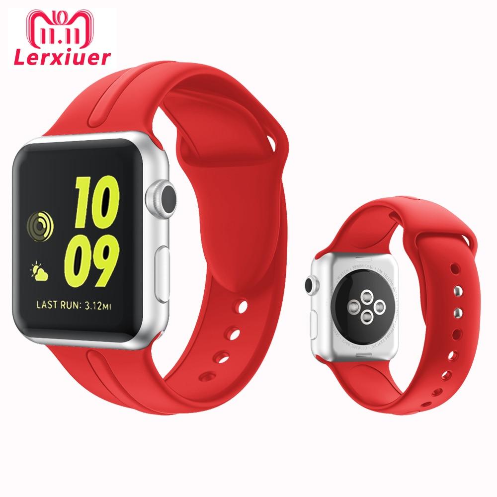 88b595024bb Esporte pulseira de Silicone Para A Maçã faixas de Relógio correa aple relógio  Iwatch 38 42mm