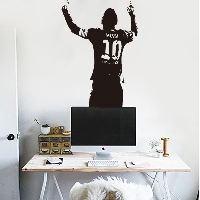 Macys Pop Style Football Star Sports Figure Living Room Background Wallpaper Painting