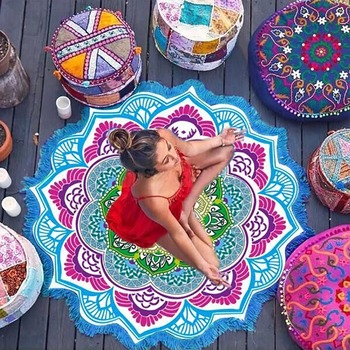 Hot Beach Towel Tassel Yoga Mat Carpet Tapete Doormat Tapestry Indian Mandala Blankets Bathroom Carpet Camping Mattress 7 Color 1