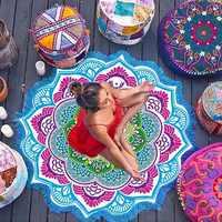 Heißer Strand Handtuch Quaste Yoga Matte Teppich Tapete Fußmatte Tapestry Indischen Mandala Decken Bad Teppich Camping Matratze 7 Farbe
