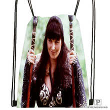 Custom Xena-big-size-warrior Drawstring Backpack Bag Cute Daypack Kids Satchel (Black Back) 31x40cm#180611-01-32