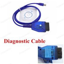 Venta Caliente de Calidad superior Del Coche Escáner Cable Adaptador de Conector de Diagnóstico OBD2 KKL USB + F iat Ecu Scan cable interfaz