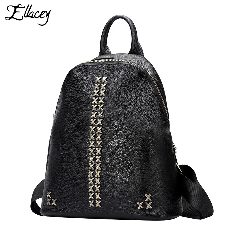 ФОТО New 2016 Women's Backpack Genuine Leather Backpacks For Women Fashion Real Leather Travel Backpack College Girls Schoolbag
