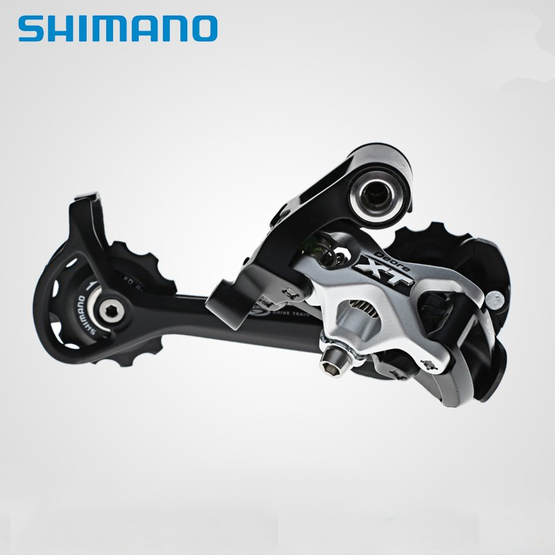цена на NEW Shimano Deore XT RD-M771-SGS 9-Speed Rear Derailleur Long Cage Black/Silver