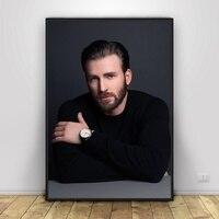 Художественный шелковый постер Криса Эванса для домашнего декора 12x18 24x36inch