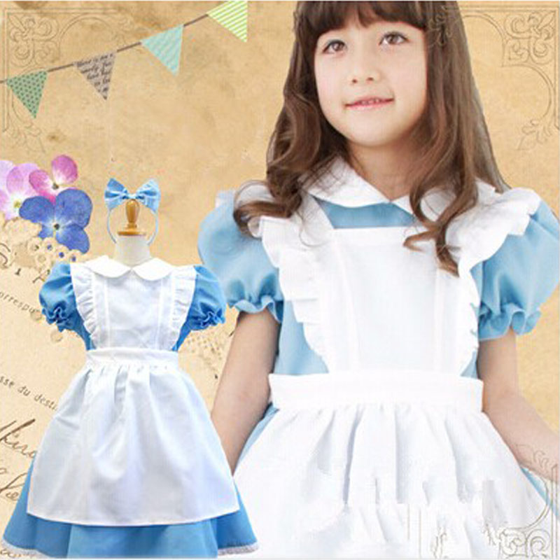 Adult Kid Plus Size XXL Alice In Wonderland Costume Lolita Dress ...