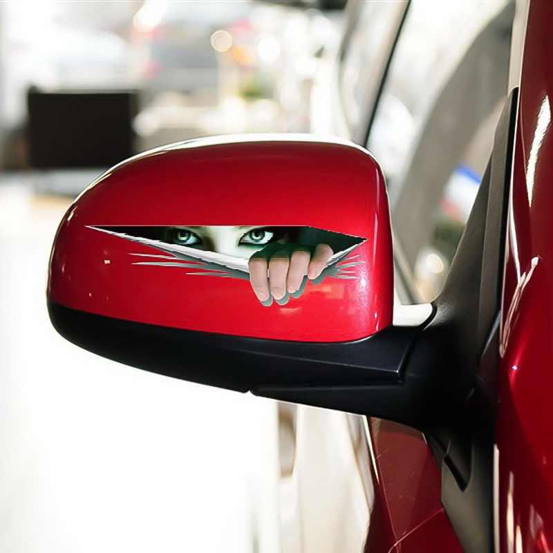 Realistico 3D Auto Sticker Creativo Modificato Adesivi Occhi Sbirciare Voyeur Mostro Impermeabile Auto Del Vinile Lunotto posteriore Della Decalcomania