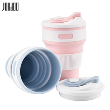 цена на JOUDOO Creative Silicone Water Bottle With Lid 130ml Sport Portable Folding Cup Travel Coffee Tea Silicone Drinkware Wholesale35