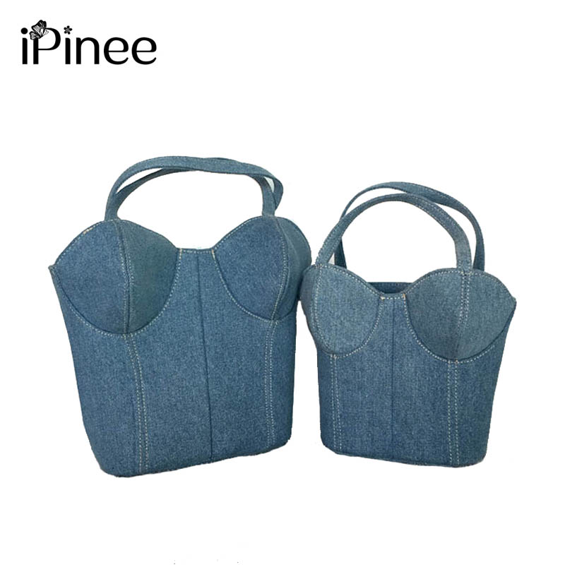 81605fdf0a69 iPinee New Women Messenger Bags Vintage Denim Handbags Cute Bra Model  Crossbody Bag Casual Small Shoulder Bags Ladies Bols
