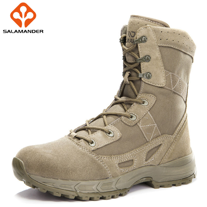 SALAMANDER Hiking boots Sport Shoes For Men Trekking Hiking Shoes Mens Sneakers Outdoor Athletic Tactical Boots Camping Martin 2017brand sport mesh men running shoes athletic sneakers air breath increased within zapatillas deportivas trainers couple shoes