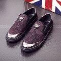 Placa de Camuflagem dos homens Maré Primavera 2017 Nova Marca Sapatos Preguiçosos um Pedal Respirável Sapatos Baixos Sapatos Casuais para homens sapatos