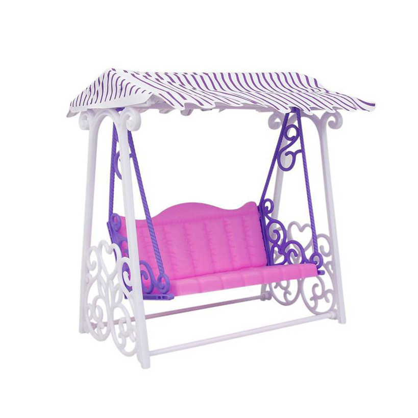 (Jimusuhutu) New Arrival Doll Accessories Swing for Barbie Pretend Play Toys for Girl Casual Sunshine Garden Rocking Swing amusement swing toys garden swing for kids outdoor toys swing garden furniture