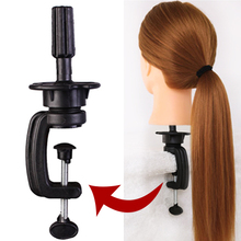 1pcs Adjustable Wig Stand Training Mannequin Head Holder Hair Hairdressing Table Clamp Plastic Metal Mold Tripod Accessory Tools