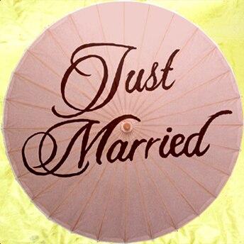 33f01bba3f999  يطير النسر  الساخن جميل خمر حفل زفاف صور فقط المتزوجات لطيفة ورقة مظلة  الوردي شحن مجاني