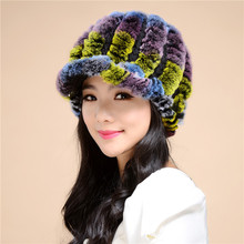 2016 2016 Discount New Fashion the new autumn and winter rex rabbit fur grass lady cap warm winter hat wool capTM27
