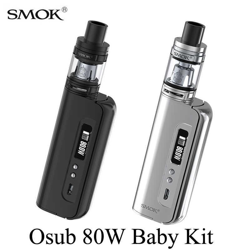 電子タバコキットsmok osub 80ワット赤ちゃんキット蒸気を吸うボックスモッズ気化器電子タバコ水ギセルメックモッズでTFV8赤ちゃんタンクs052