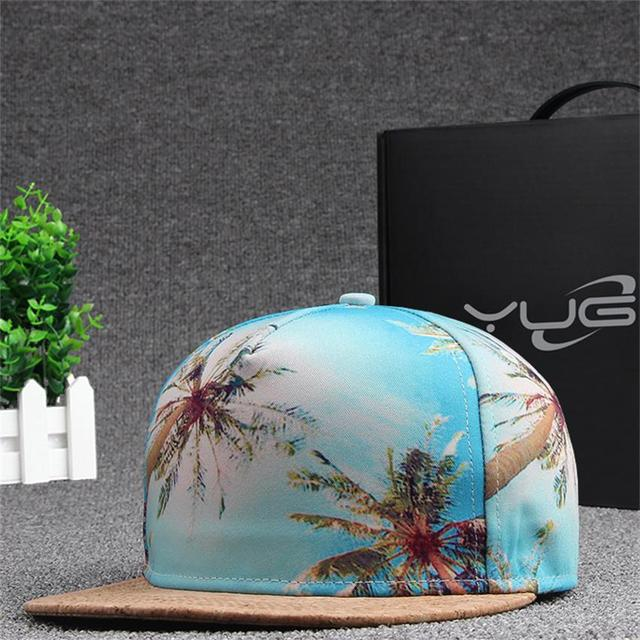 new high-end 3D printing hit color stitching wood male hip-hop hat female models fashion lovers baseball cap hat