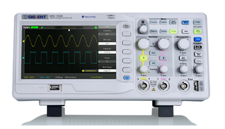 SIGLENT SDS1102A Digital Oscilloscope100MHz 2Ch 1GS/s USB 7 TFT LCD