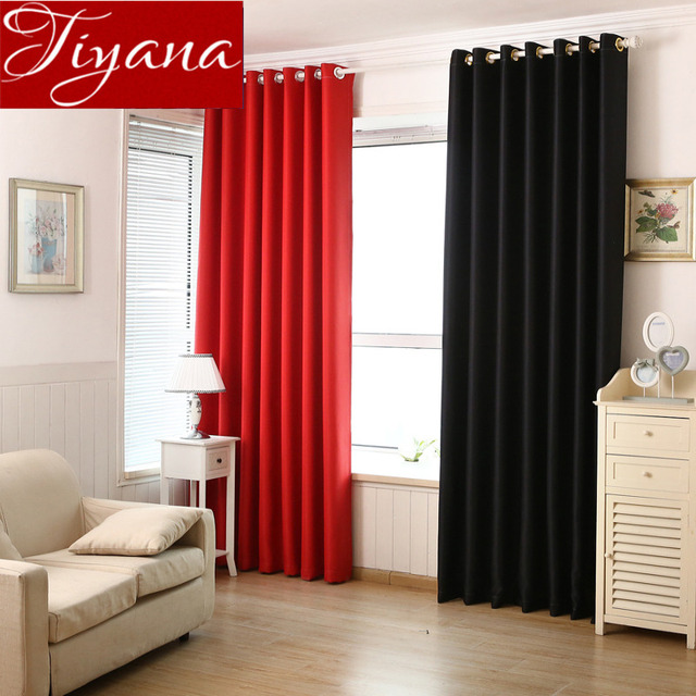 Modern Blackout Curtains For Living Room Red Curtains For Window