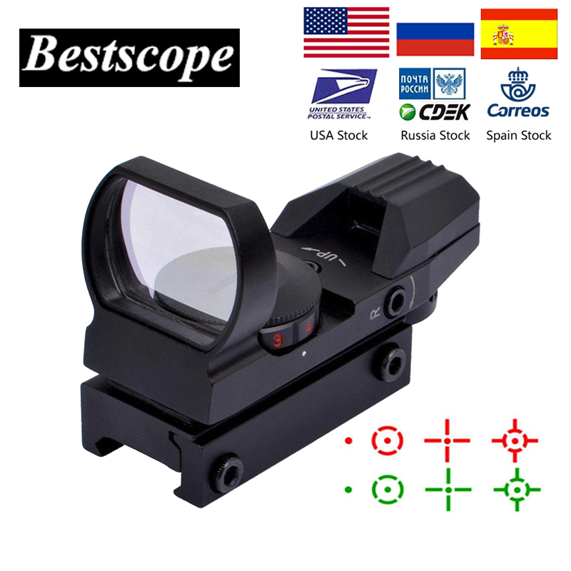 BESTSIGHT 20mm Rail Riflescope Hunting Optics Holographic Red Dot Sight Reflex