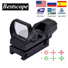 חם 20mm Rail Riflescope ציד אופטיקה הולוגרפי Red Dot Sight רפלקס 4 Reticle טקטי היקף Collimator Sight(China)