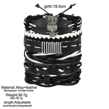 Vintage Infinity Leather Charm Bracelets For Men Wristbands Multiple Bracelet Bangles Friendship
