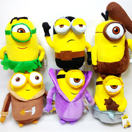 Bob Minion 3D Eyes Plush Minion Stuffed Toys Doll 20CM Despicable Me Soft  Mcdonalds Toys Minions