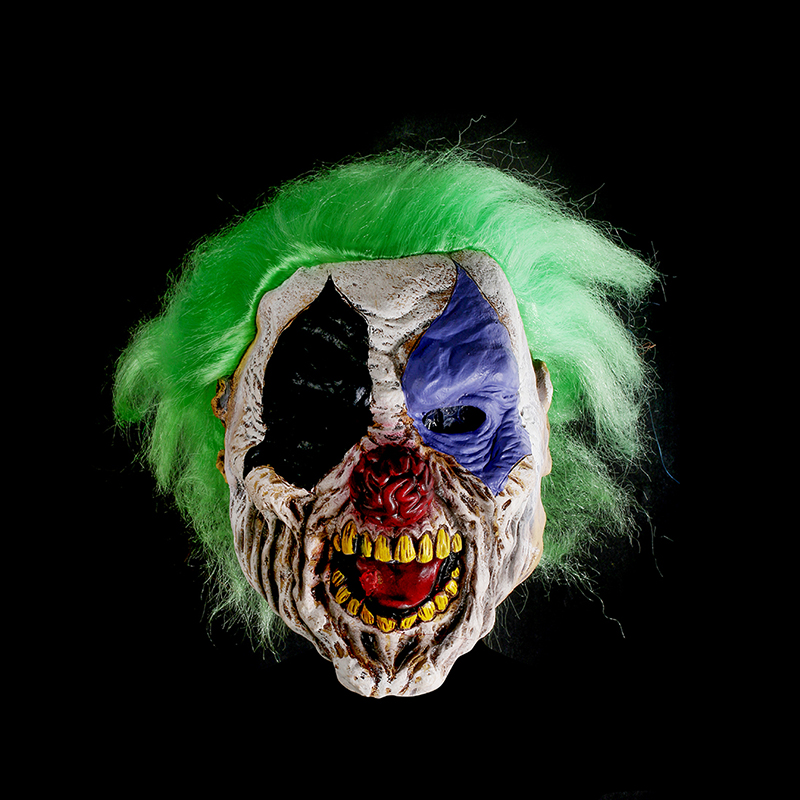 aliexpresscom buy scary full wrinkles face ghost mask adult latex mask green hair cosplay masquerade halloween props party costumes fancy dress from - Scary Props