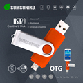 SUMSONIKO USB Flash Drive Rotatiom Clip Phone USB Flash Disk Custom Gift Pen Drive 64GB 32GB 16GB 8GB 4GB 2GB 1GB Can Tranck